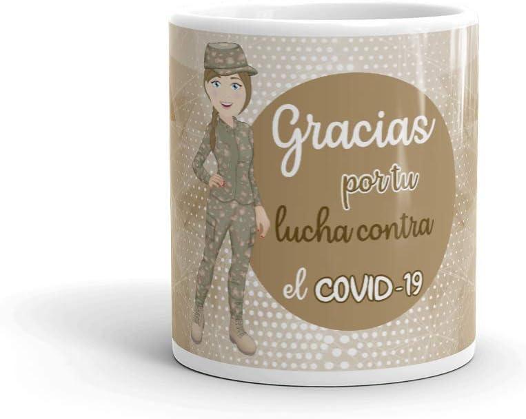 Kembilove. Tazas Desayuno Originales Personalizadas para Mujeres Militares – Taza de café de Agradecimiento para Militares Que lucharon en Ayudar a la Gente – Regalos Originales de Militar