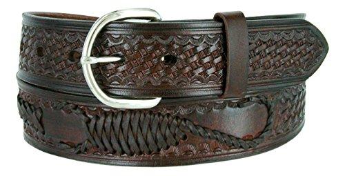 - Western Scorpion X Hand Woven Genuine Leather Belt 1-1/2