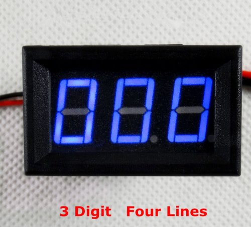 SMAKN Digital Ammeter Dc 0-999ma Ampere Blue LED Amp Panel Meter Dc 4-30v Power Supply BLUE