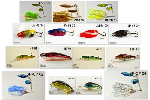 Akuna [WY] Pros' pick recommendation collection of lures for Bass, Panfish, Trout, Pike and Walleye fishing in Wyoming(Bass 15-A)