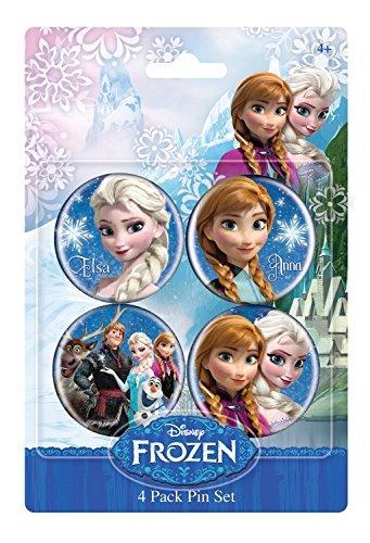 Disney Frozen 1.5 Inch Button 4-Pack Anna & Elsa ()