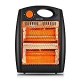 Space Heater, Small/Mini Personal Electric Ceramic Heater with Over-Heat Protection, Tip-Over Protection, Adjustable Thermostat, Quick Heat-up for Home Office