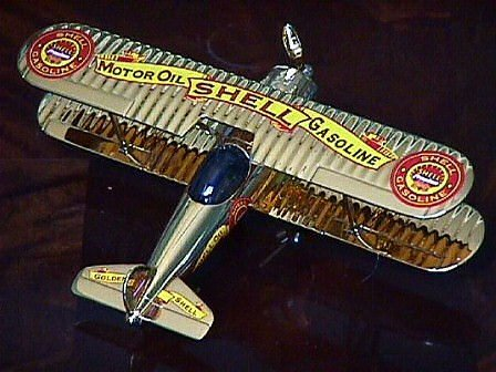 1932 Modified Stearman Shell Coin Bank Airplane Limited Edition by Gearbox