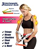 Arm Workout Machine Upper Body Resistance Excerise with 3 System Resistance Training Bands for Women Tones Strengthens Arms Biceps Shoulders Chest