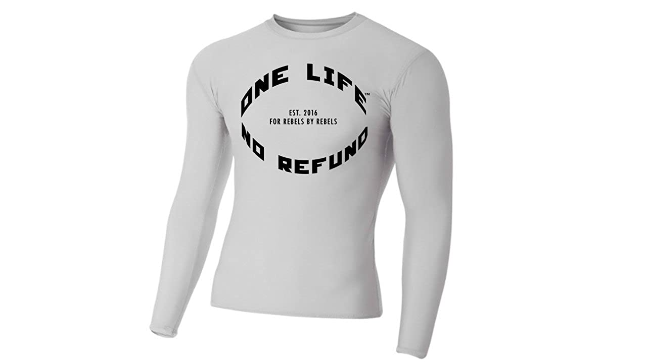 One Life No Refunds Long Sleeve Rash Guard