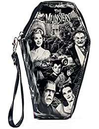 Universal The Munsters Collage Glitter Zip Around Coffin Wallet