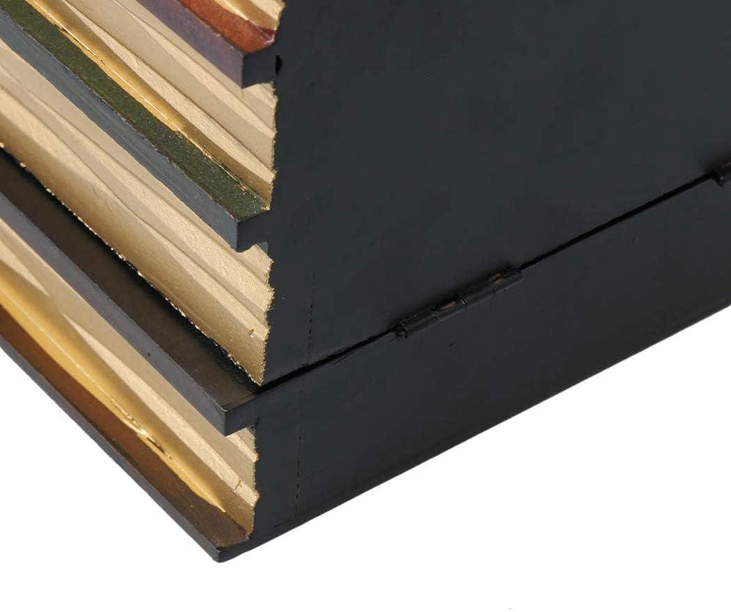 JUSTDOLIFE Libro Decorativo Falso De La Manera Creativa De La Caja De Almacenamiento De Madera Multiusos Retra De La Moda