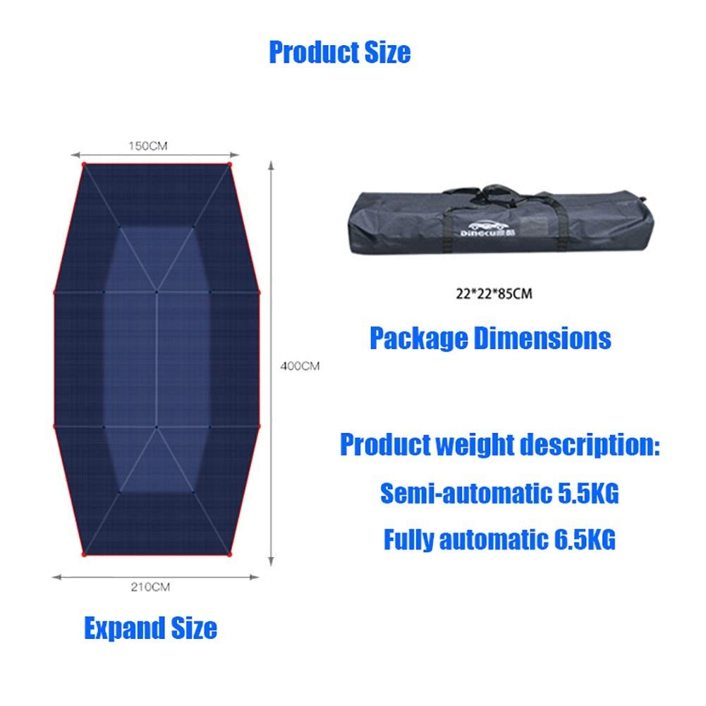 EGECL Sedan Car Cover - Waterproof Dust Sun UV Car Umbrella Sun Awning - Four-Season Car Awning Roof Cover - Universal - 210X400cm (Color : Blue) by EGECL (Image #4)
