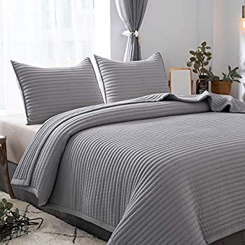 Amazon Com Ntcoco 3 Piece Comforter Set Thin Quilt
