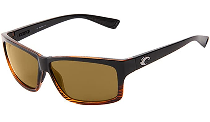 ce9d2563268a7 Costa Del Mar UT 52 Cut Coconut Fade Square Sunglasses for Mens - Size 580P  (Amber Lens)  Amazon.co.uk  Clothing