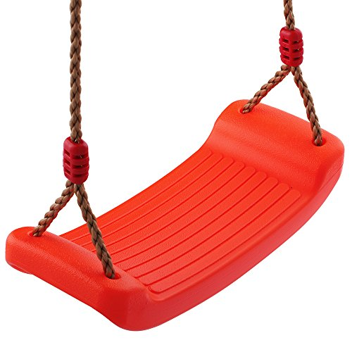 Red Swing Seat - HappyPie Children Hanging Exercise Swing Toy With Warm Seat for Indoor and Outdoor Playground Set - Red