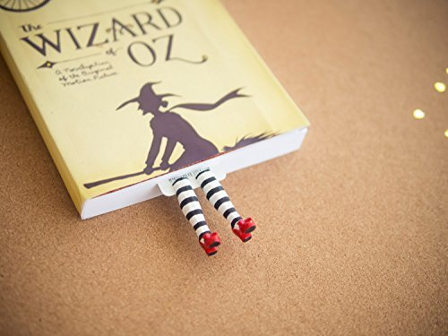Wicked witch handmade bookmark. Inspired by the Wizard of OZ gifts. Great present for book lovers, bookworm and book readers! Ruby Slippers book marke…