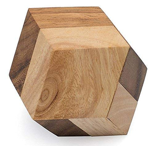 Octant: STEM 3D Brainteaser Wood Puzzle for Adults from SiamMandalay with SM Gift Box(Pictured) Improve Critical Logical Thinking with an Eco Friendly Handmade Educational Game