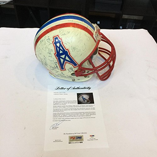 1998 Tennessee Oilers Team Signed Game Used Helmet Steve Mcnair 54 Sigs - PSA/DNA Certified - NFL Autographed Game Used Helmets ()