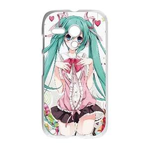 Hatsune Miku Vocaloid Anime Motorola G Cell Phone Case White Transparent Protective Back Cover 562