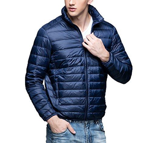 Collar Weatherproof Homme Blousons Doudoune Navy Winter Down light Blue Ultra Stand Ake wTUgaT