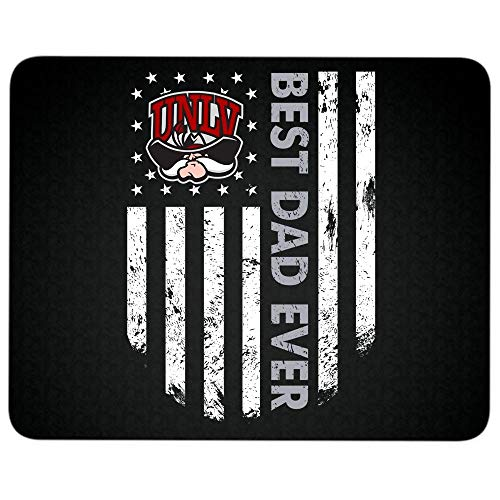 UNLV Runnin' Rebels Logo Non-Slip Rubber Base Mousepad for Laptop, Computer & PC, Best Dad Ever Mouse Pad(Mouse Pad - Black)