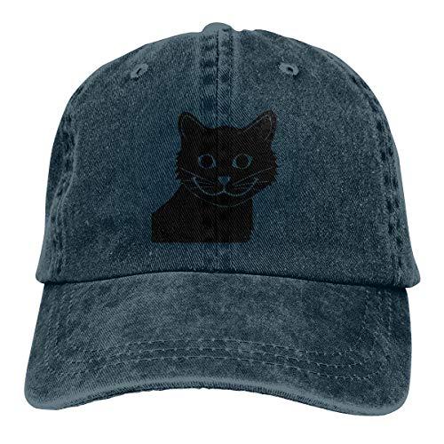 (Adult Unisex Cowboy Cap Adjustable Hat Happy Cat Sad Fish Cotton)