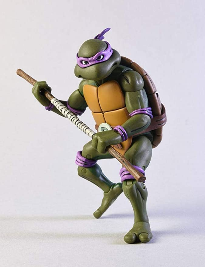 NECA Pack 2 Figuras Donatello vs Krang in Bubble Walker 18 ...