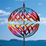 Bits and Pieces - Magnificent Jupiter Two-Way Wind Spinner - Multicolour Kinetic Garden Windspinner - Decorative Lawn Ornament Wind Mill - Unique Outdoor Lawn and Garden Décor