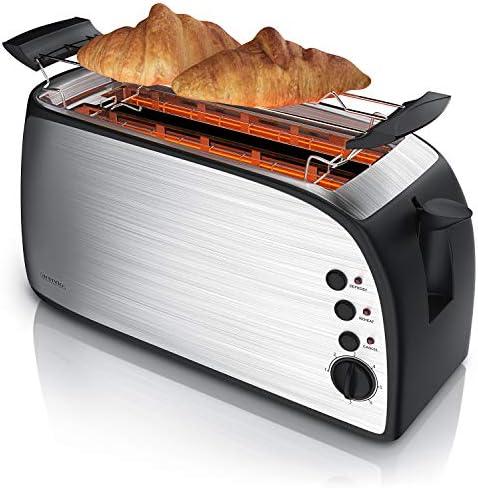 Arendo Grille pain automatique à fente allongée avec