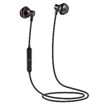Auriculares Bluetooth,Qilian B8 Auriculares Estéreo Bluetooth 4.1 Deportivos inalámbricos Cascos con Micrófono IPX5 Prueba