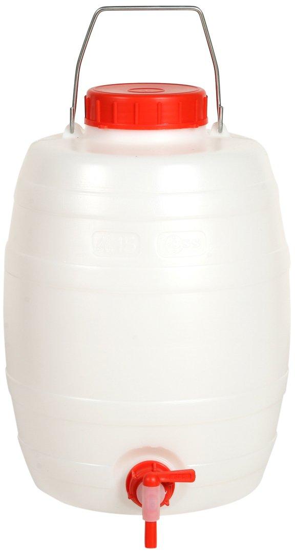 Floraworld 017011 getränkefas-s Standard 15 L, 15 liters, Rot/weiß, 23 x 23 x 32 cm Rot/weiß