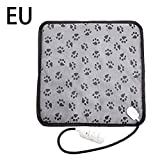 TOMOYOU Pet Chair Cushion Electric Blanket Heating Pad Dog Cat Bed Mat Waterproof Anti-Bite Adjustable Temperature