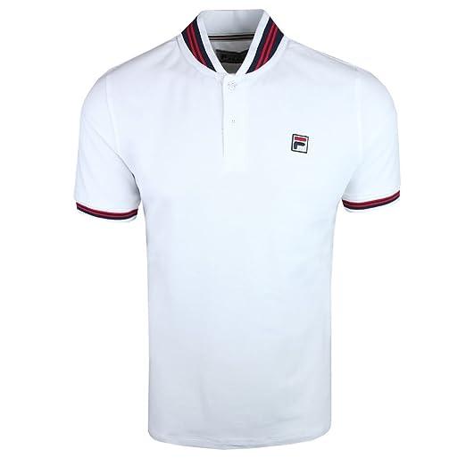 380aa9e4573e Fila Vintage Matcho Polo Shirt White at Amazon Men s Clothing store