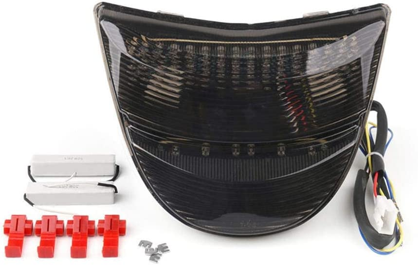WildBee Motorcycle Smoked Lens Turn Brake Signal LED Tail Light Compatible with Hon-da CBR 954 2002-2003