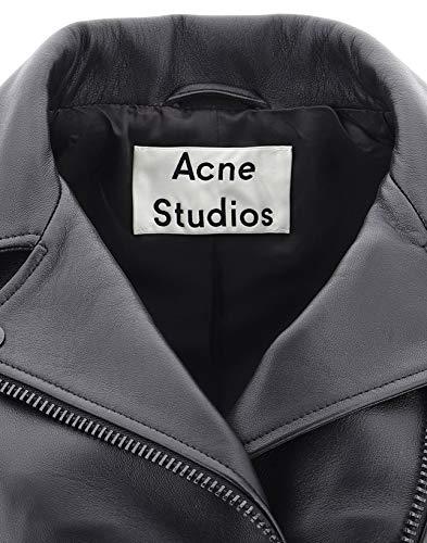 Chaqueta mujer negra 1az166999 de Acne para cuero de Studios CvqwCP