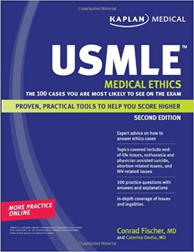 Kaplan Medical Usmle Medical Ethics The 100 Cases You Are Most Likely To See On The Exam Amazon Co Uk Conrad Fischer 9781419553141 Books