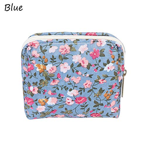 Retro Women Girls Small Wallet Change Coin Purse Clutch Card Holder Handbag (Color - Blue) -