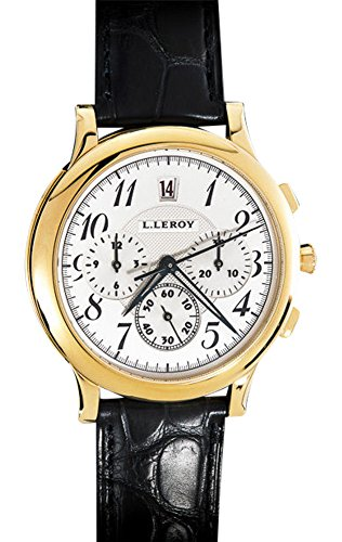 Leroy Osmior 18K Yellow Gold Automatic Guilloche Chronograph. Winner of GPHG!