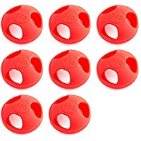 8 x Quantity of Helicopter Quadcopter Airplane Boat Car Controller Mushroom Antenna Protective Jacket Red KingKong Universal Version 5.8Ghz Protector