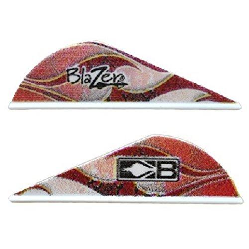 Blazer Arrow Vanes (Bohning) Red Rust Flame W/Logo Pkg/50