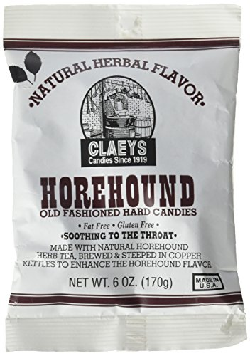 Natural Herbal Candies (Claeys Horehound Hard Candy, 6 oz (Pack of 3))