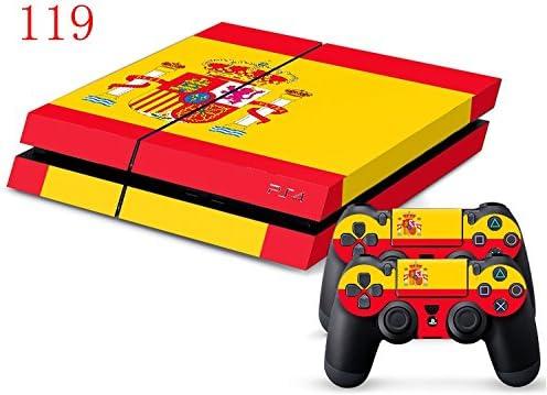 pegatina de vinilo de alta calidad bandera de España Skin for Ps4: Amazon.es: Videojuegos