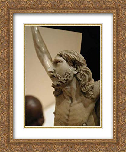 Spanish Culture - 20x24 Gold Ornate Frame and Double Matted Museum Art Print - Crucifix ()