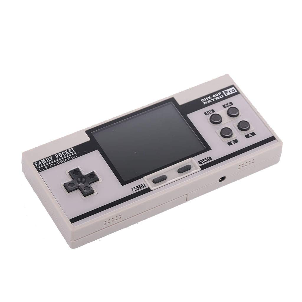 Basde Retro Handheld Classic Game Console, Mini Retro Handheld Game Console Portable Video Console Built-in 638 Classic FC Game Support 2 Player TV Output (White) by Basde (Image #1)