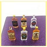 Comidox 6Pcs/Set 1:12 Dollhouse Miniature Wine
