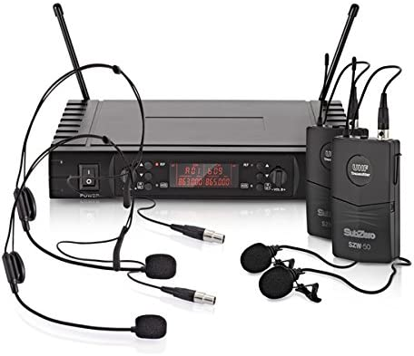 SubZero SZW-50 Sistema Inalambrico de Microfono de Solapa y de ...