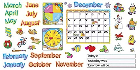 TREND T8302 Monthly Calendar (with Cling) Bulletin Board Set, 22