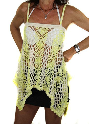Diesel Tunique de femme robe de plage à filet Vetle Jaune #4