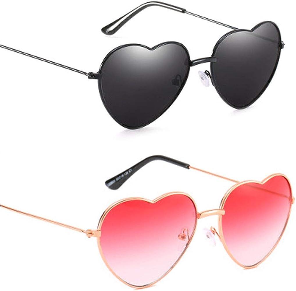 Vientiane Gafas de Sol en Forma de Corazón, Gafas Con Forma de Corazón Para Los Accesorios De Disfraces Hippie: Amazon.es: Ropa y accesorios