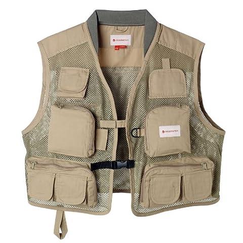Redington Clark Fork Mesh Fishing Vest, Sage, Small/Medium (Fly Fishing Redington)