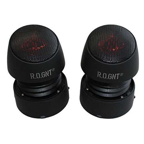 R.O.GNT Portable Wired MP3 Twin Capsule Speakers for Mobile Devices, Smartphone, iPhone and Tablet, Laptop, Notebook (Wired, Twin Capsules) (Black) by R.O.GNT (Image #1)