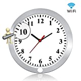 Newwings 1080P WiFi Hidden Camera Wall Clock Wireless Spy Camera Nanny Cam with Motion Detection, Indoor Covert Security Camera for Home and Office