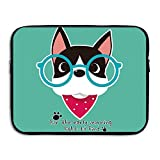 Computer Bag Laptop Case Slim Sleeve Dog Glasses Waterproof 13-15In IPad Macbook