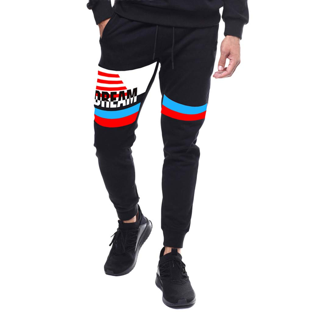Sports Pants for Men, Mitiy Sweatpants with Pockets Athletic Trousers for Jogging, Workout, Gym, Running, Training Black